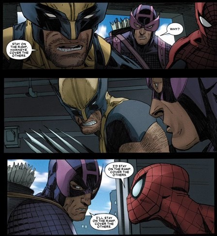instructions Straight off the Page hawkeye wolverine - 8425944832