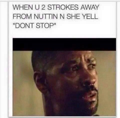 two strokes away isn't enough for don't stop