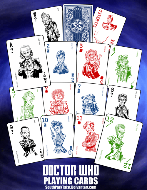 the doctor doctor who playing cards - 8425975296