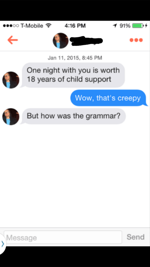 pickup lines wtf tinder texting dating - 8426041856