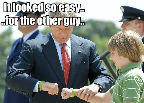fistbump george w bush republican - 8426387712