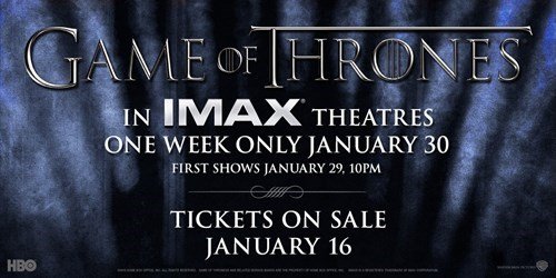Game of Thrones IMAX - 8426634752
