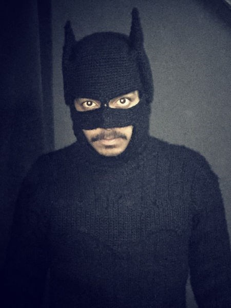 poorly dressed knitting sweater batman g rated - 8426787584
