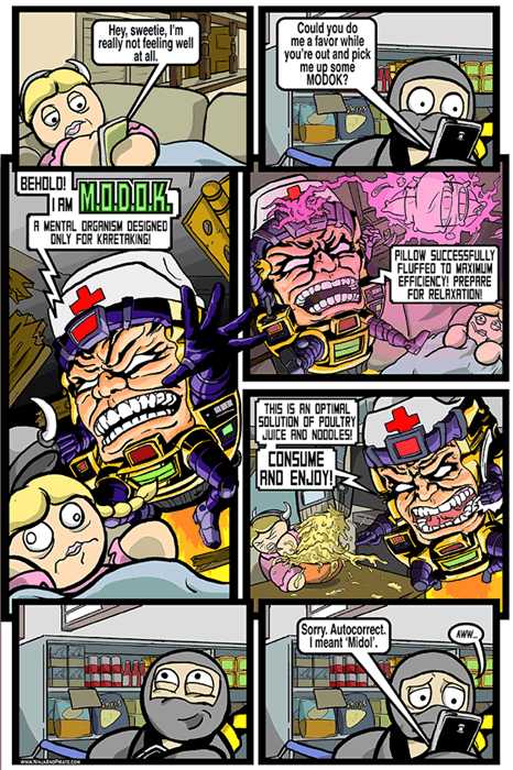 Fan Art midol modok web comics - 8426813440