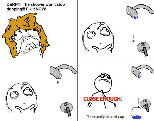 Close Enough,shower,DIY