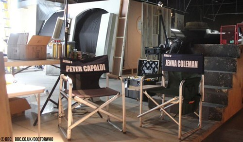 behind the scenes Peter Capaldi jenna-louise coleman 12th Doctor doctor who - 8426894080