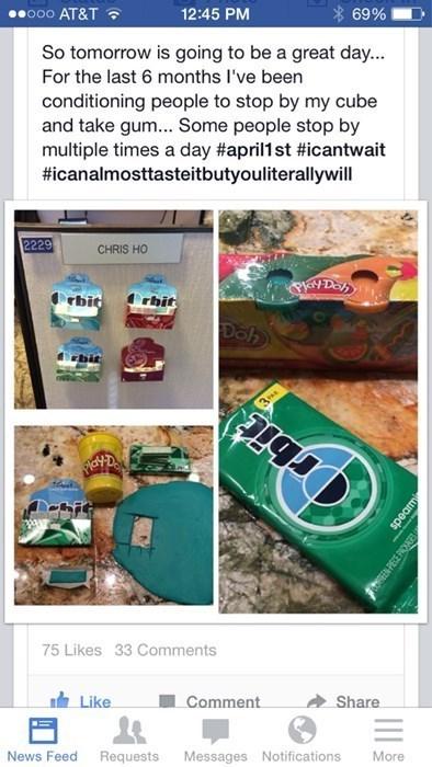 gum,evil,prank