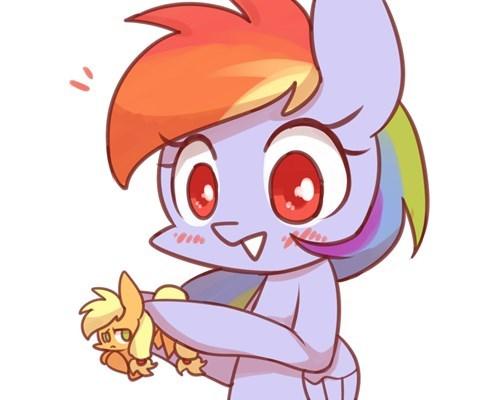 applejack puns chibi rainbow dash - 8426969856