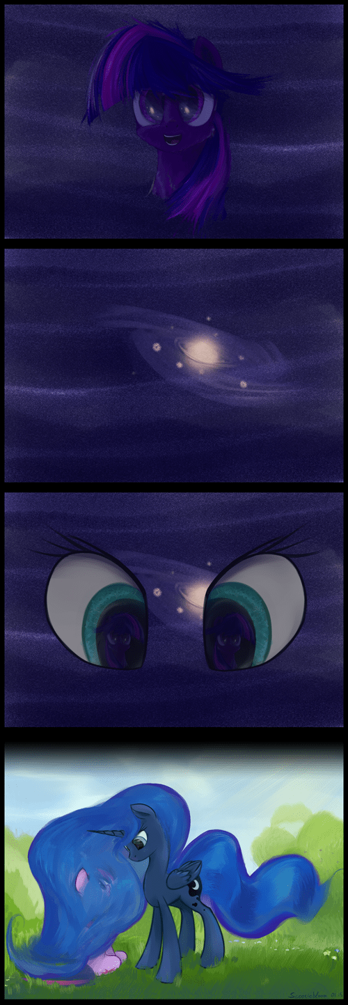 Fan Art Astronomy princess luna stars