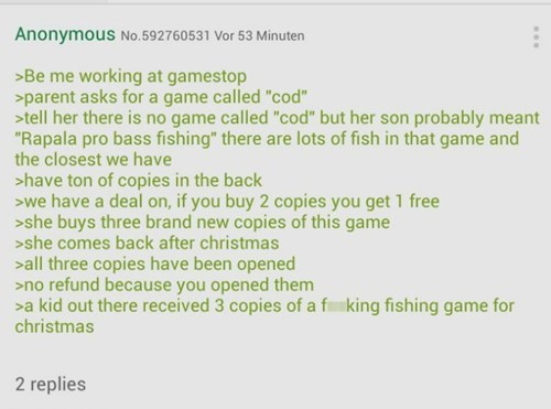 call of duty 4chan greentext video games - 8427456512