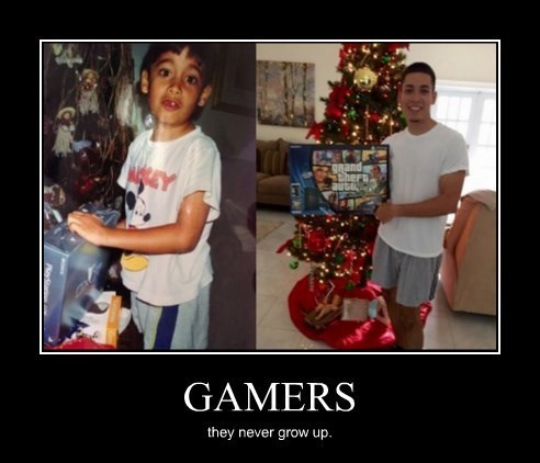 growing up gamers idiots funny - 8427470848