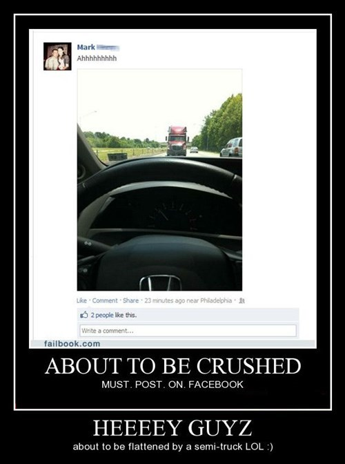 car,accident,facebook,idiots,funny