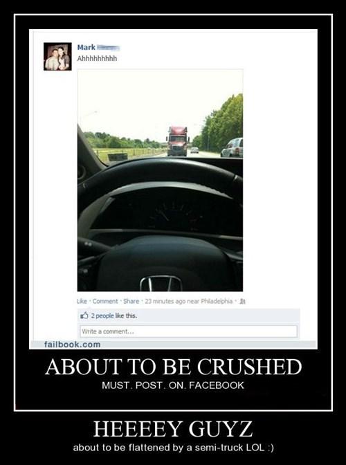 car accident facebook idiots funny - 8427471360