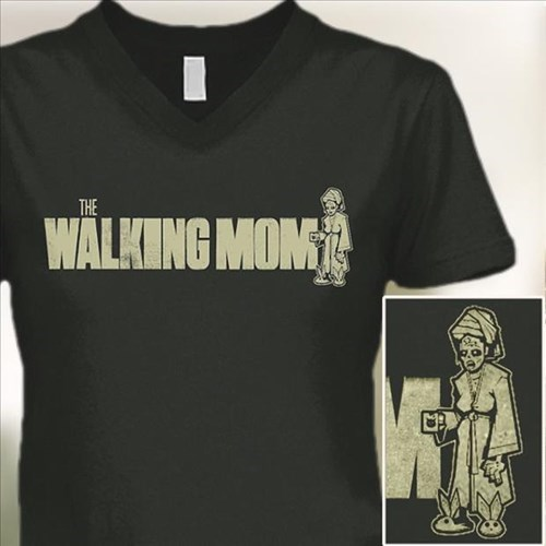 poorly dressed parody parenting t shirts mom The Walking Dead - 8427475968