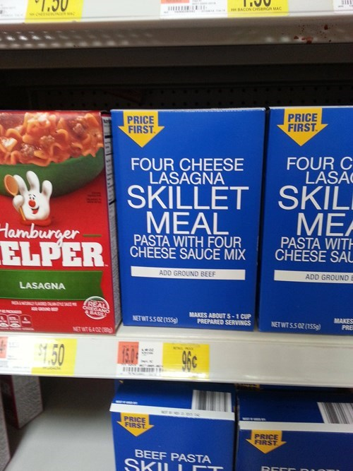 monday thru friday generic packaging hamburger helper