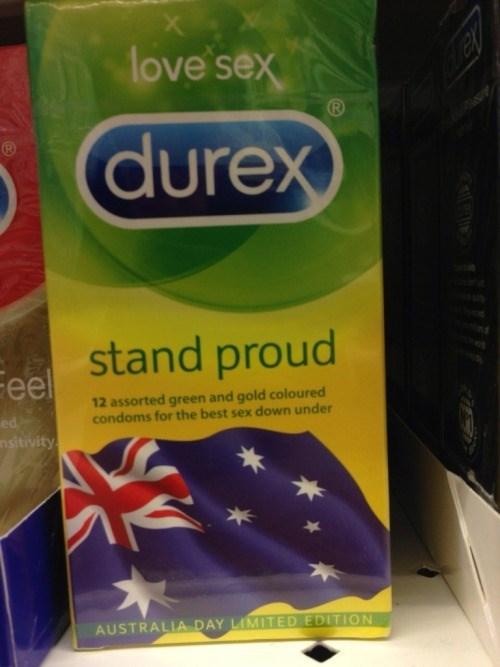 australian durex condoms stand proud