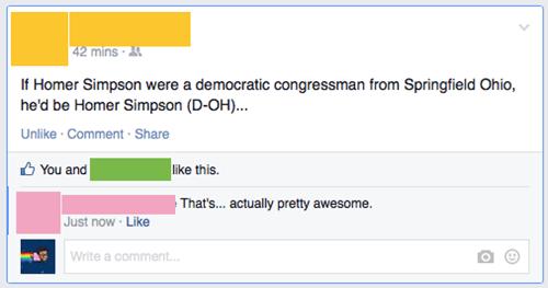 homer simpson facebook the simpsons politics - 8427566848