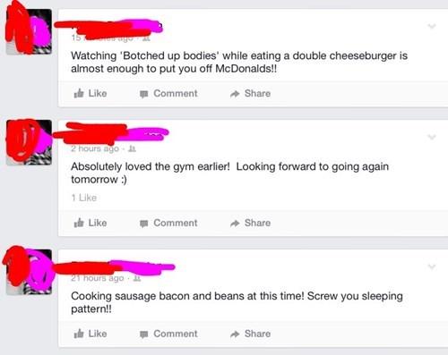 gym weight workout irony