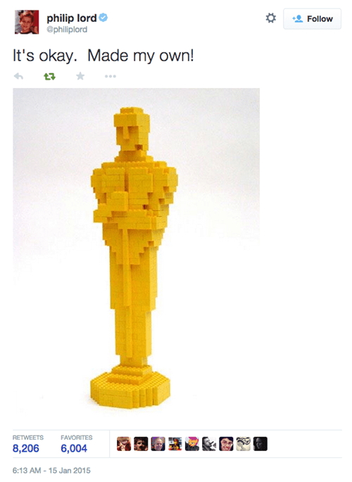 twitter lego oscars failbook g rated