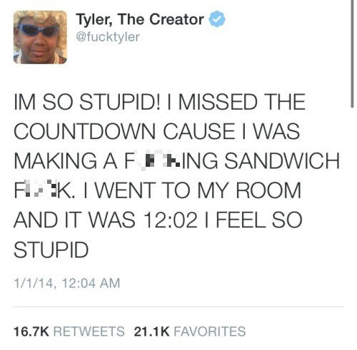 twitter new years Tyler The Creator - 8427729664
