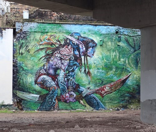 world of warcraft,Street Art,graffiti