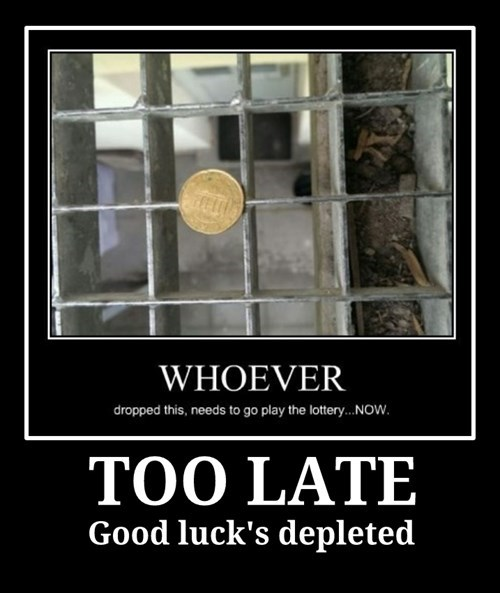 coin funny good luck idiots - 8427778560
