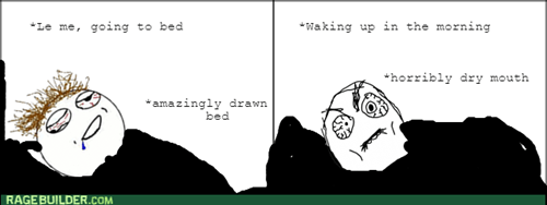 mouth,sleeping,dry,waking up
