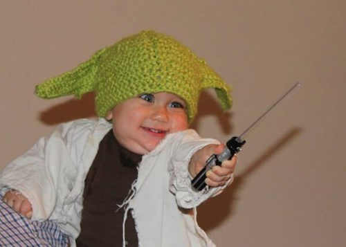 light saber,baby,star wars,parenting,yoda