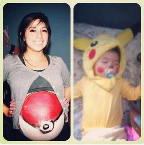 Pokémon,baby,pokeball,parenting,pikachu,pregnant