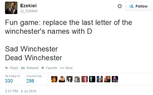sad and dead winchester