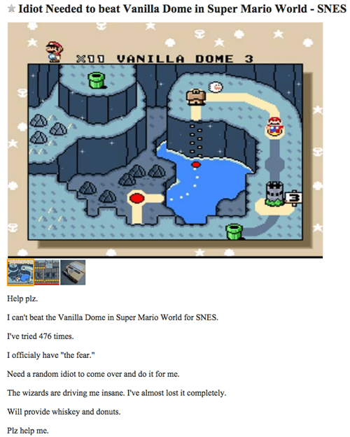 craigslist buds los angeles super mario world - 8428122112