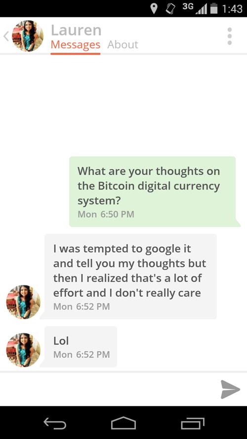 tinder bitcoin texting dating - 8428156928