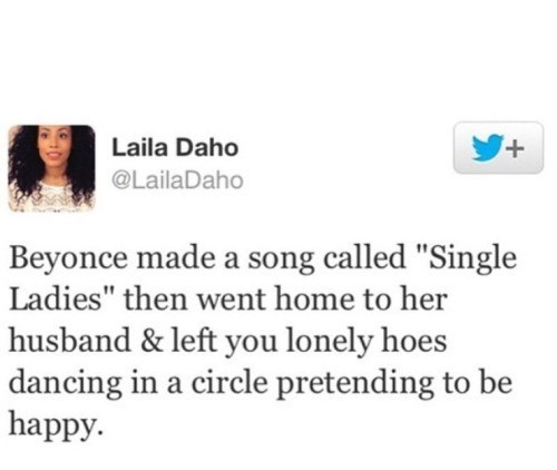 beyonce isn't one of the single ladies