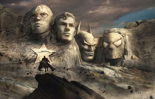 art superheroes Mount Rushmore - 8428270336