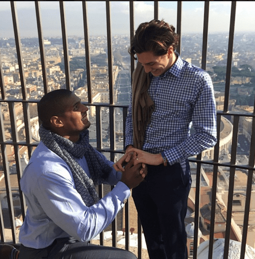 lgbtq marriage sports nfl engagement