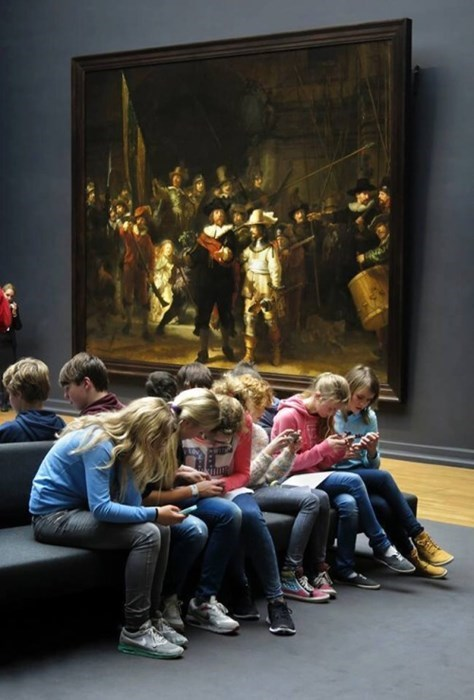 art phone kids these days museum failbook g rated - 8428334336