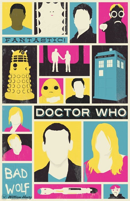poster pop art 9th doctor - 8428348160