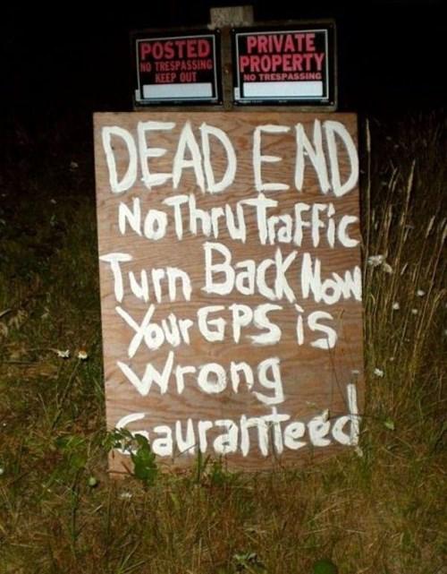 warning sign redneck - 8428353024