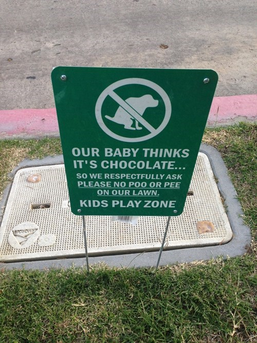 sign,dogs,baby,poop,parenting