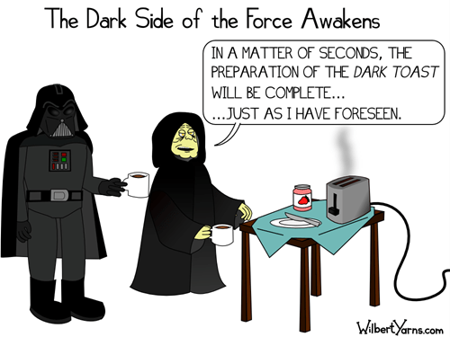 darth vader Emperor Palpatine star wars toast web comics