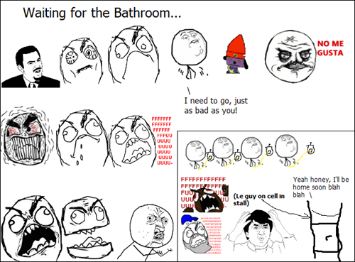 rage,waiting,bathroom