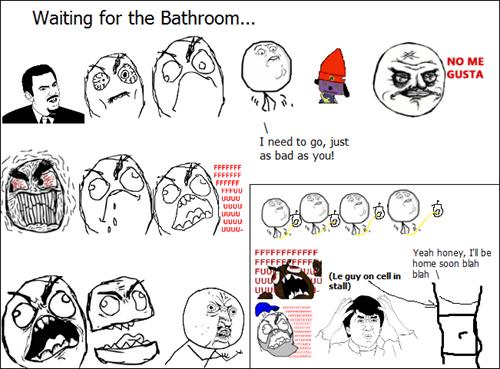 rage waiting bathroom - 8428428544