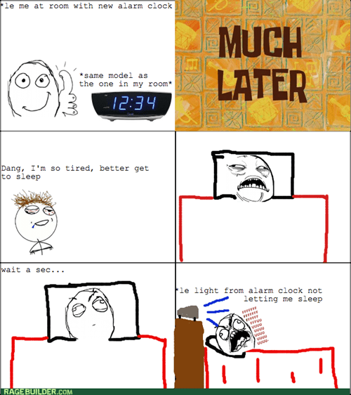 rage,alarm clock,light,sleeping
