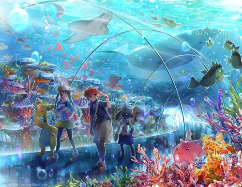 Pokémon Fan Art aquarium - 8429572352