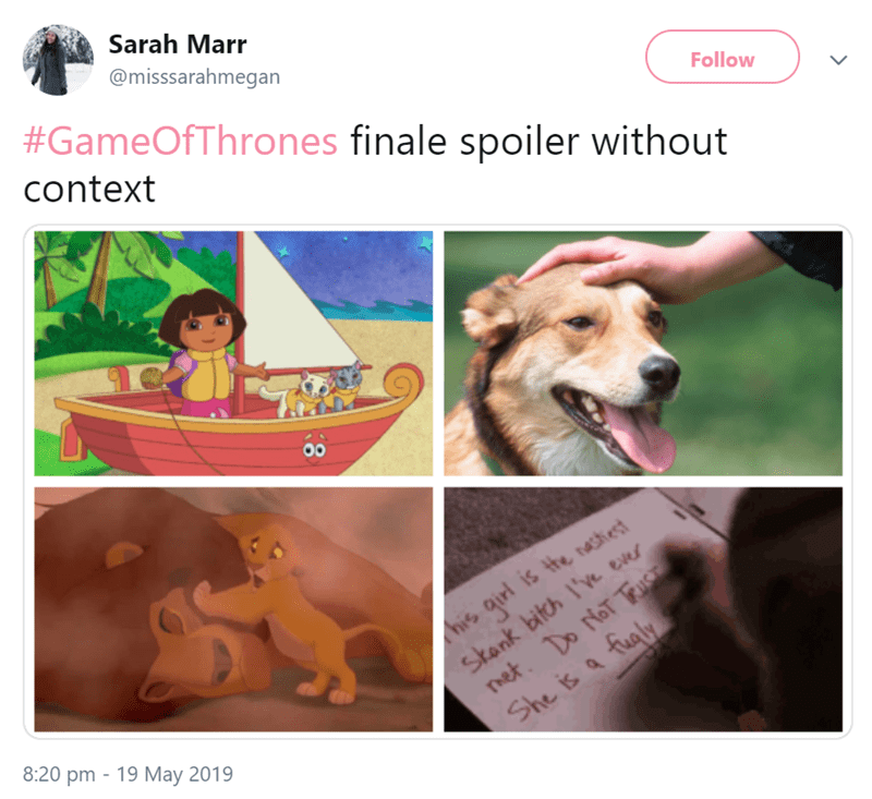 funny photos of Got spoilers