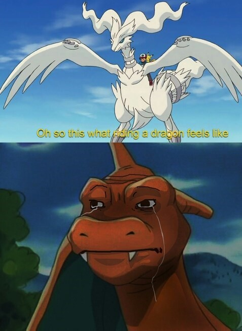Sad Pokémon feels charizard anime - 8430348800