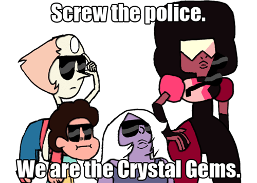 eff the police cartoons steven universe - 8430445824