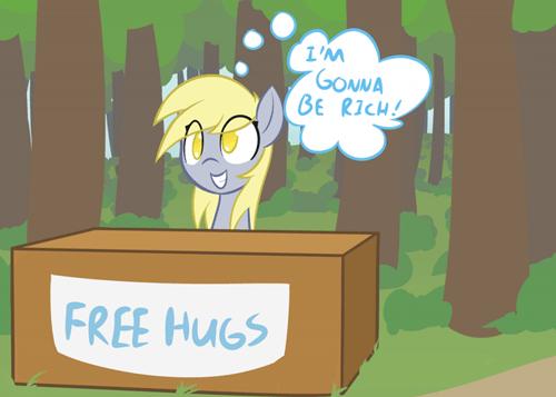 millionaire,derpy hooves,Free Hugs