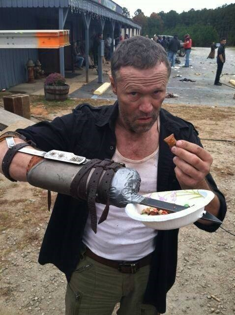 behind the scenes Michael Rooker merle dixon The Walking Dead - 8430529280