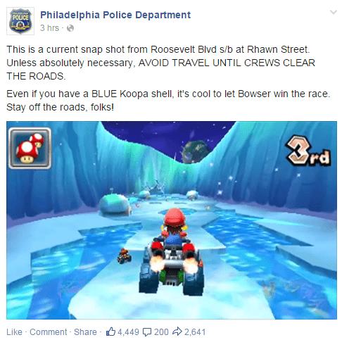 twitter,Mario Kart,police